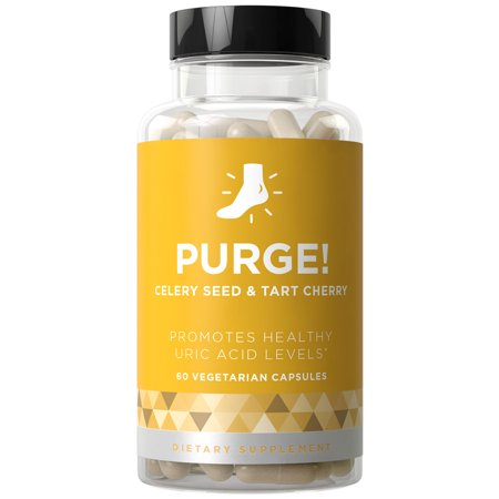 PURGE! Uric Acid Cleanse & Healthy Joint Support - Fast-acting Potency, Strong Flexibility, Lasting Mobility, Inflammation Protection - Celery Seed & Tart Cherry - 60 Vegetarian Soft Capsules (Dlpa 60 Capsules)