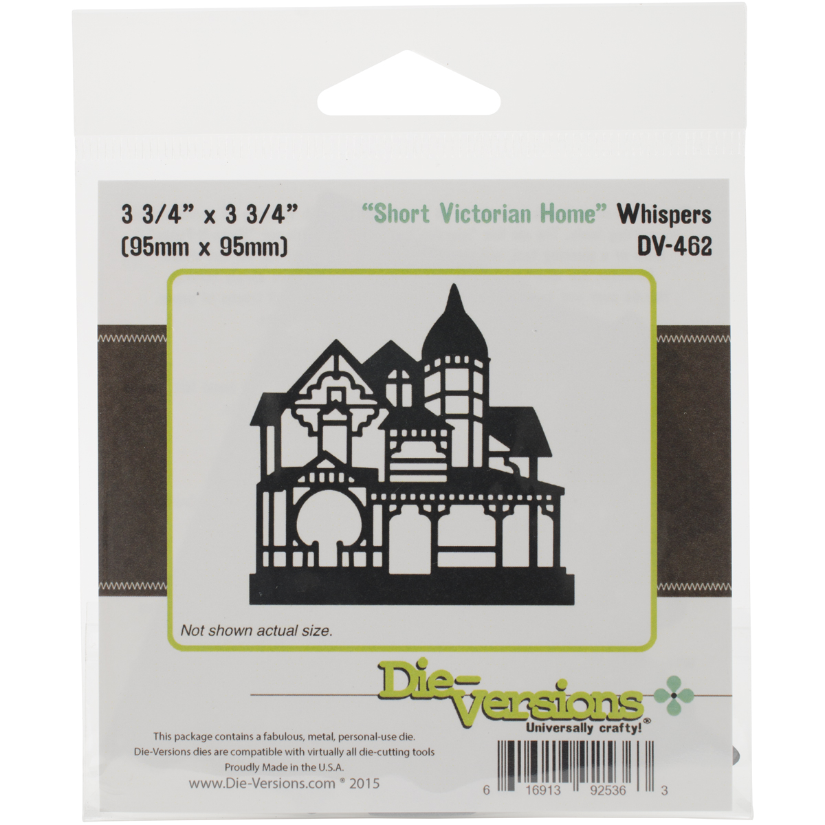 "Die-Versions Whispers Die-Short Victorian Home, 3.75""X3.75"""