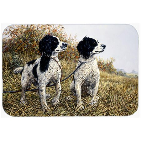 Carolines Treasures HMHE0001LCB Two Springer Spaniels by Michael Herring Glass Large Cutting Board - image 1 of 1