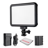 Pergear PT 12B Ultra Thin Bi Color Dimmable Led Video Light Panel with Touch Switch Camera Camcorder Video Lig