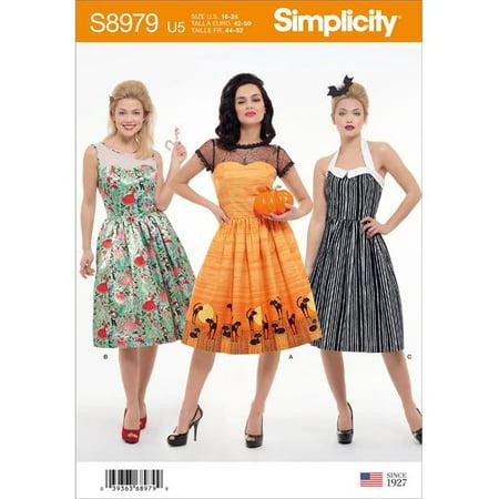 Creative Group Halloween Costumes 2019 (Simplicity US8979U5 Womens Classic Halloween Costume, Size)