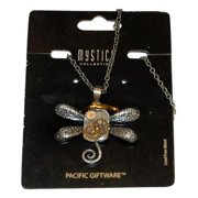 Steampunk Dragonfly Gears Necklace Antique Costume Jewelry