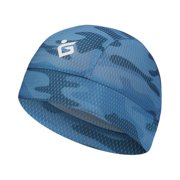 Cycling Beanie Quick Dry Breathable Liner Hats Outdoor Sports Accessories,Camouflage & Blue