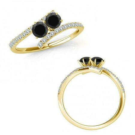 f658ad5dfd579 I Love UsÖ Two-Stone Ring 1/2 ct tw Diamonds 14K White Gold