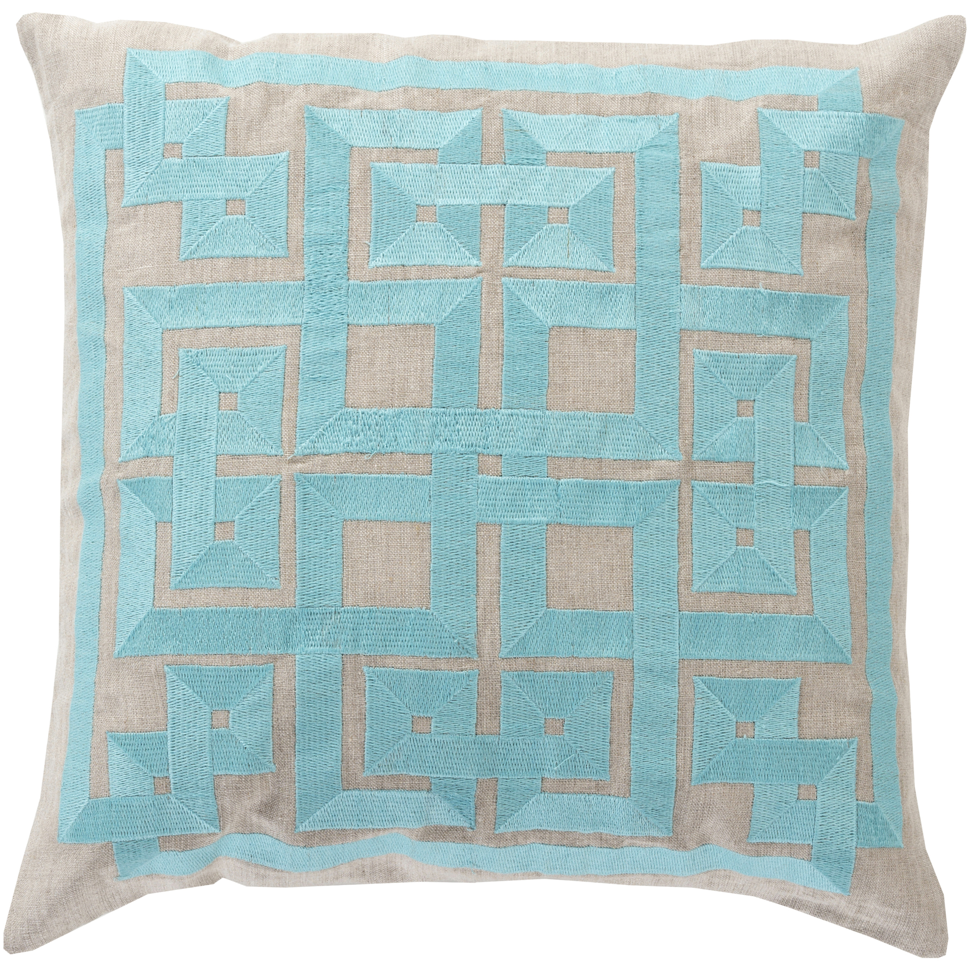 "Art of Knot Chieti 22"" x 22"" Pillow (with Down Fill)"