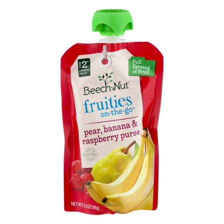 Ana Banana - (5 Pack) Beech-Nut Fruities On-the-Go Pear, Banana & Raspberry Puree Stage 2, 6 Months and Up, 3.5 oz