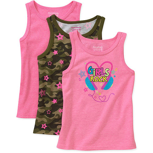 Garanimals Baby Toddler Girl 3-Pack Assorted Tanks