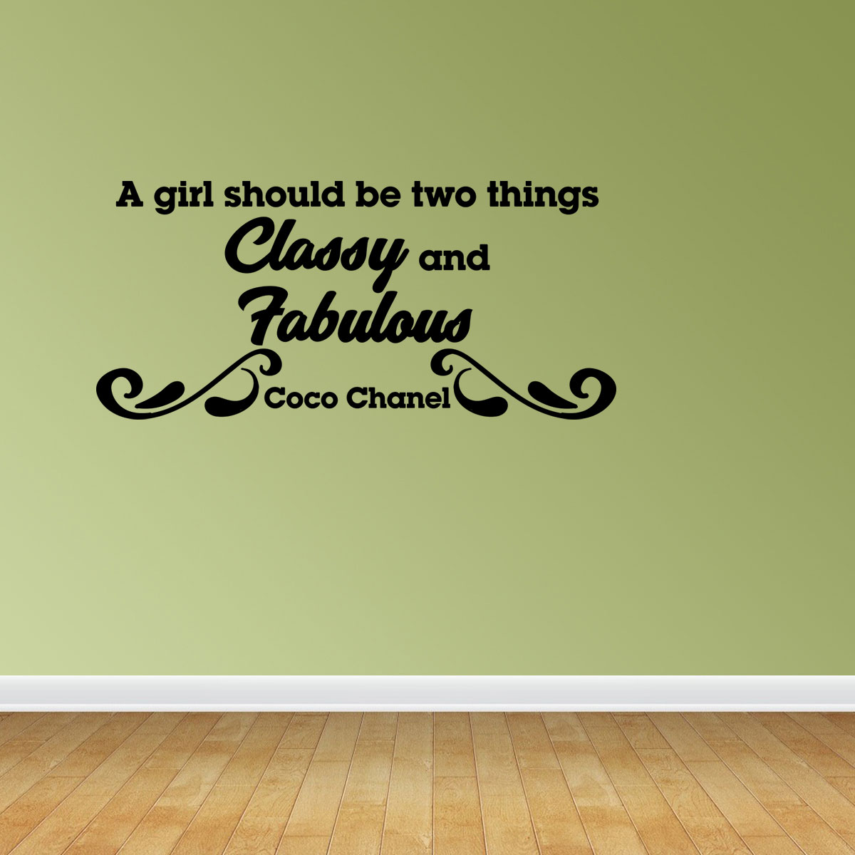 Classy And Fabulous Vinyl Wall Decals Inspirational Decal Coco Chanel JP52