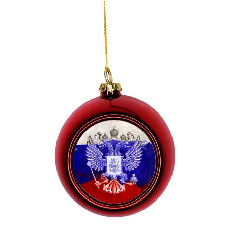Russia Christmas Ornaments.Flag Russia Russian Union Jack Paint Style Flag Bauble Christmas Ornaments Red Bauble Tree Xmas Balls Walmart Com