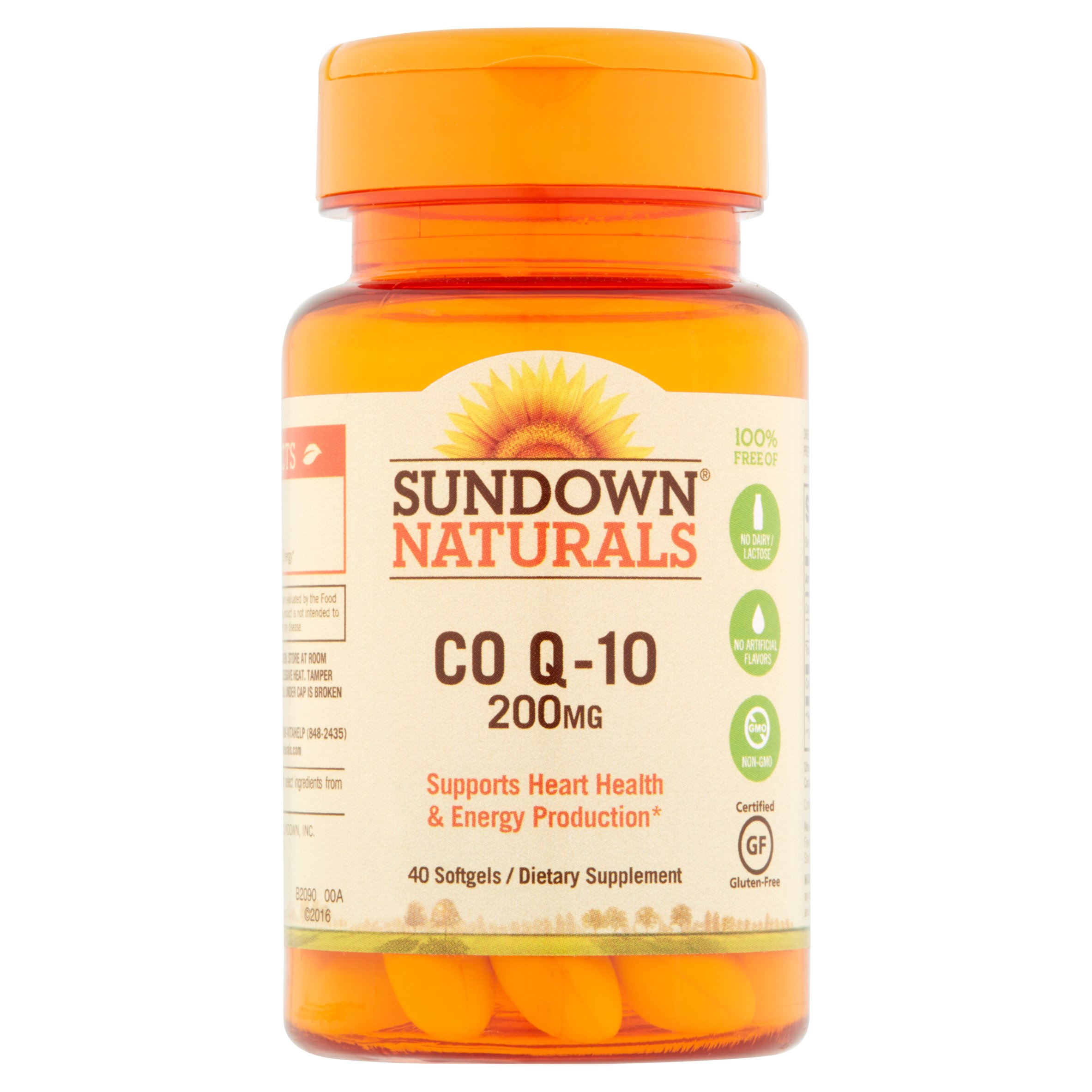 Sundown Naturals CO Q-10 Softgels, 200 mg, 40 count