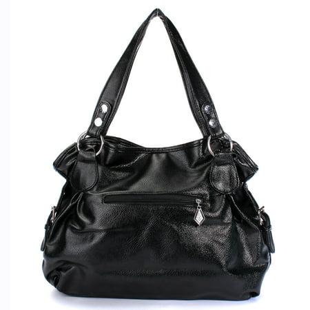 Meigar Fashion Leather Tassel Handbags For Women Shoulder Bag Purse Messenger Per Tote Bags