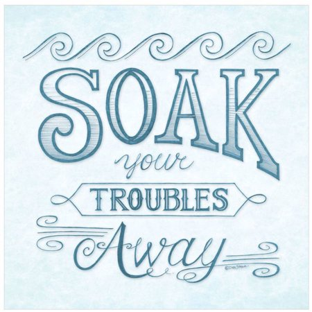 Soak Your Troubles Away by Eazl Premium Gallery Wrap