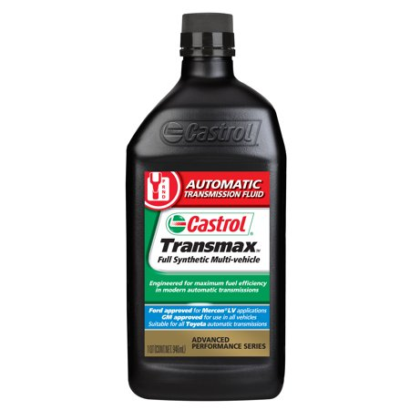 Castrol TRANSMAX Multi-Vehicle Full Synthetic Automatic Transmission Fluid, 1 QT