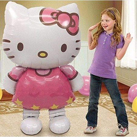 New Large Size Hello Kitty Cat Foil Balloons Cartoon Birthday Decoration Wedding Party Inflatable Air Balloons Classic Toys by XCL for $<!---->
