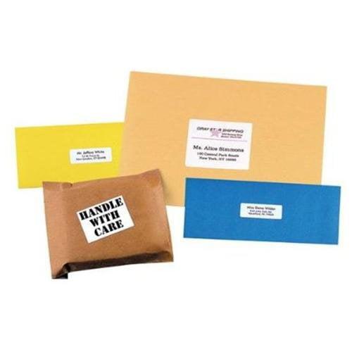 CHARTPAK/PICKETT ML8025 White All-purpose Labels, 1/2 X 1 3/4, 2000/box