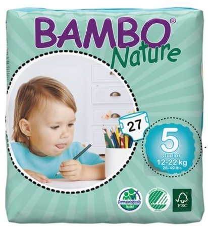 Abena Baby Diaper Bambo® Nature Size 5 Disposable Heavy A...
