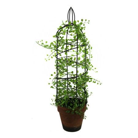 Artificial Climbing Vine Spiral Wire Trellis Ceramic Flower Pot 18 - Vine Trellis
