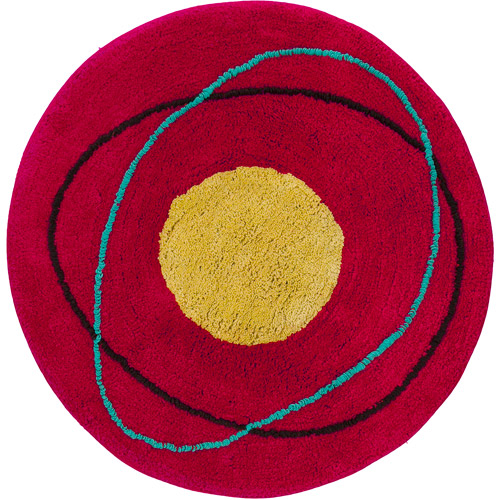 "Creative Bath Dot Swirl Bright Cotton Round Rug, 2'3"" Diameter"