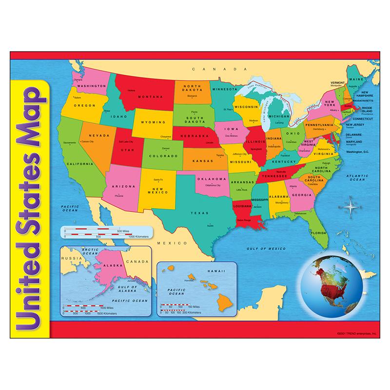 CHART USA MAP 17 X 22 GR 1-8