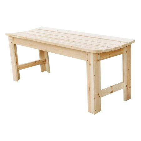 Style Backless Bench - Shine Company Belfort Backless Wood Garden Bench