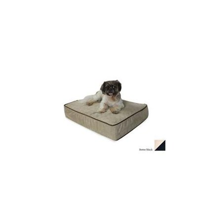 Snoozer Outlast Dog Bed Sleep System 5-Inch Thick Small Butter/Black