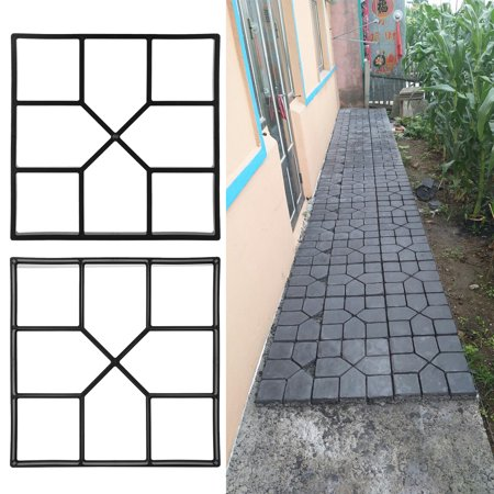 Paving Pavement Mold,Sonew Paving Pavement Concrete Mould Stepping Stone Mold Garden Lawn Path Paver Walk (Decorative Concrete Molds)
