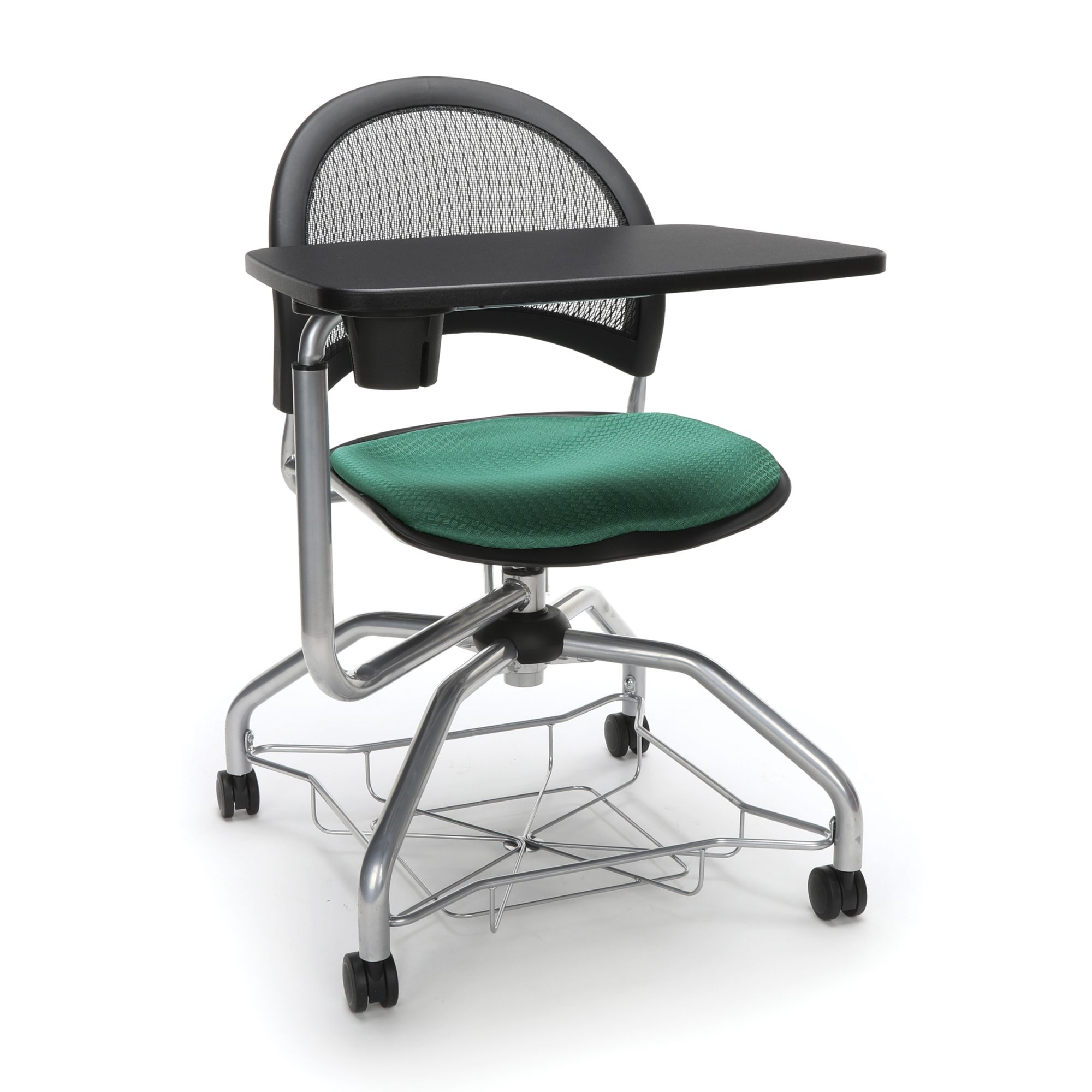 OFM Moon Foresee Series Tablet Chair with Removable Fabric Seat Cushion - Student Desk Chair, Shamrock Green (339T)