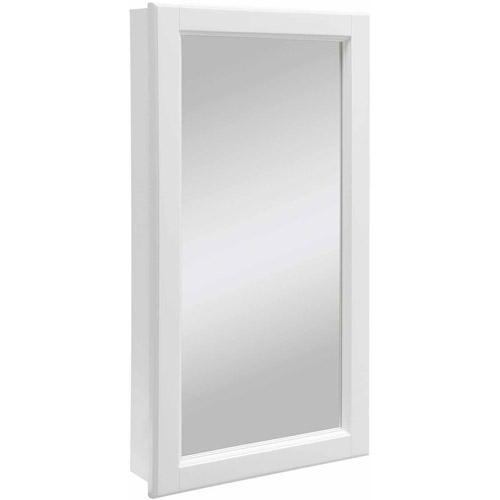Design House 545111 Wyndham White Semi Gloss Medicine Cabinet Mirror With 1  Door And 2
