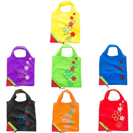 Cute Strawberry Design Foldable Polyester Shopping Bag Environment Handle Bag - image 7 of 7