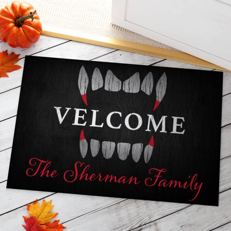 Scary Welcome Personalized Doormat (Halloween Doormat With Scary Sounds)