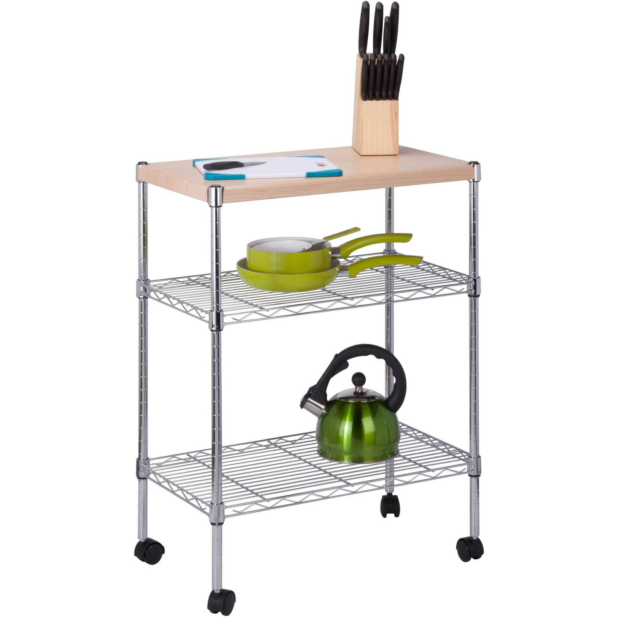 kitchen shelf utility image loading cart ebay itm storage luxor is