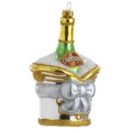 5.5 Happy Hour Champagne in Ice Bucket Christmas Ornament
