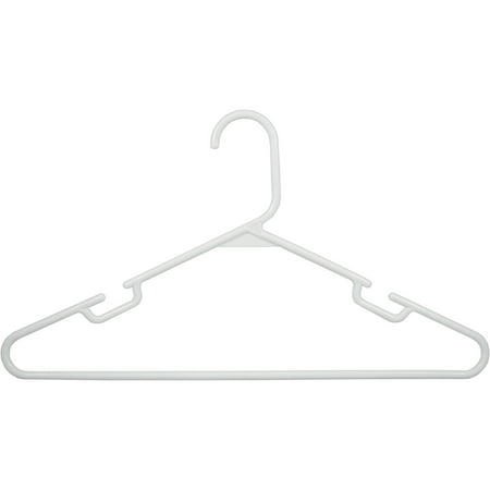 Tailor Made Products 60-Pack Plastic Hangers, Notched, White