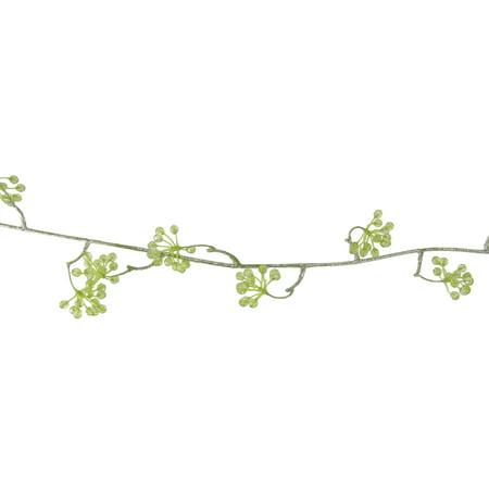"42"" Princess Garden Green Crystal Berry Artificial Floral Craft Vine"