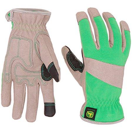 Ladies John Deere Touchscreen Gloves (Green/Gray)