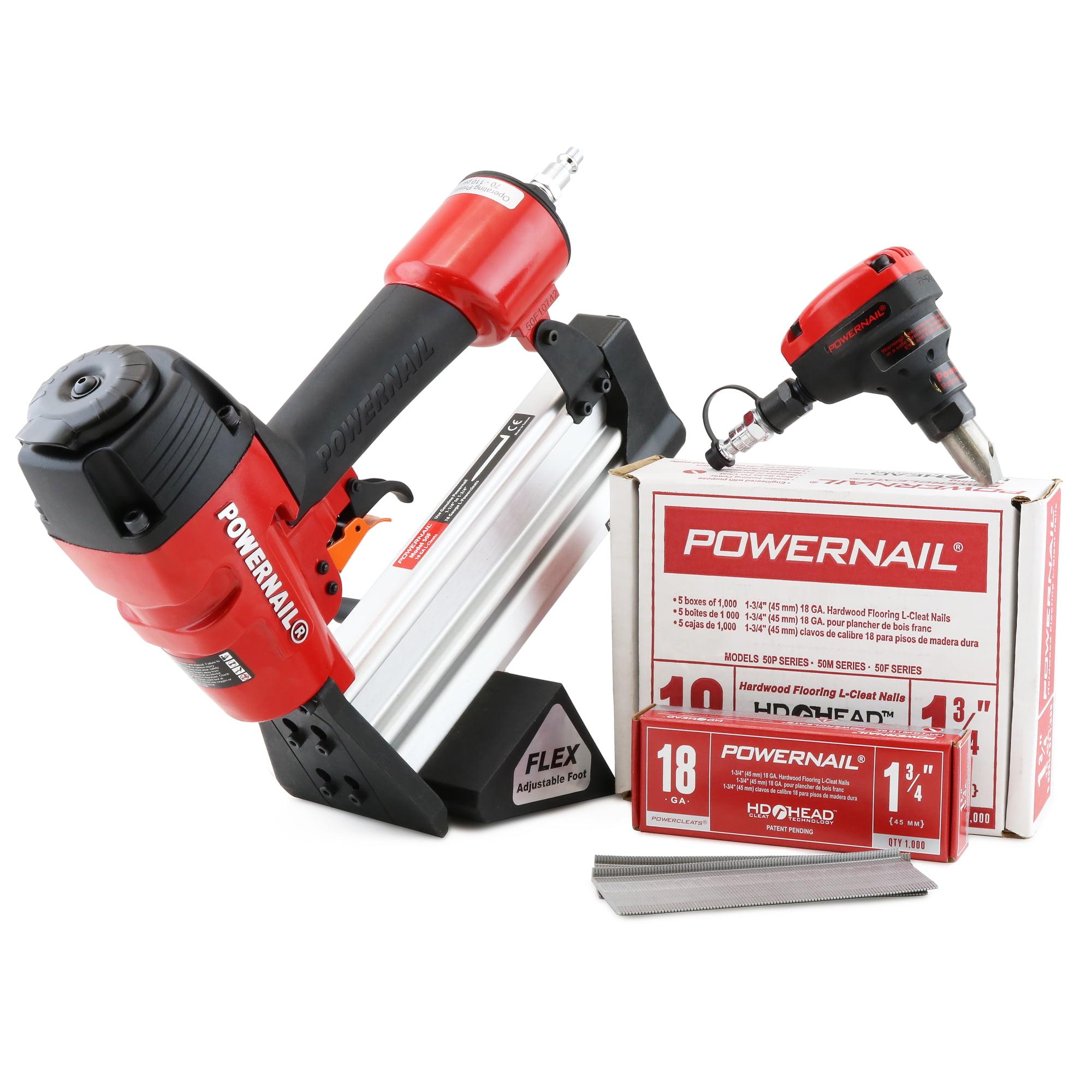 Powernail 1-3//4 in 18 Gauge Hardwood Flooring Nail Gun Nailer Cleats 1000 Nails