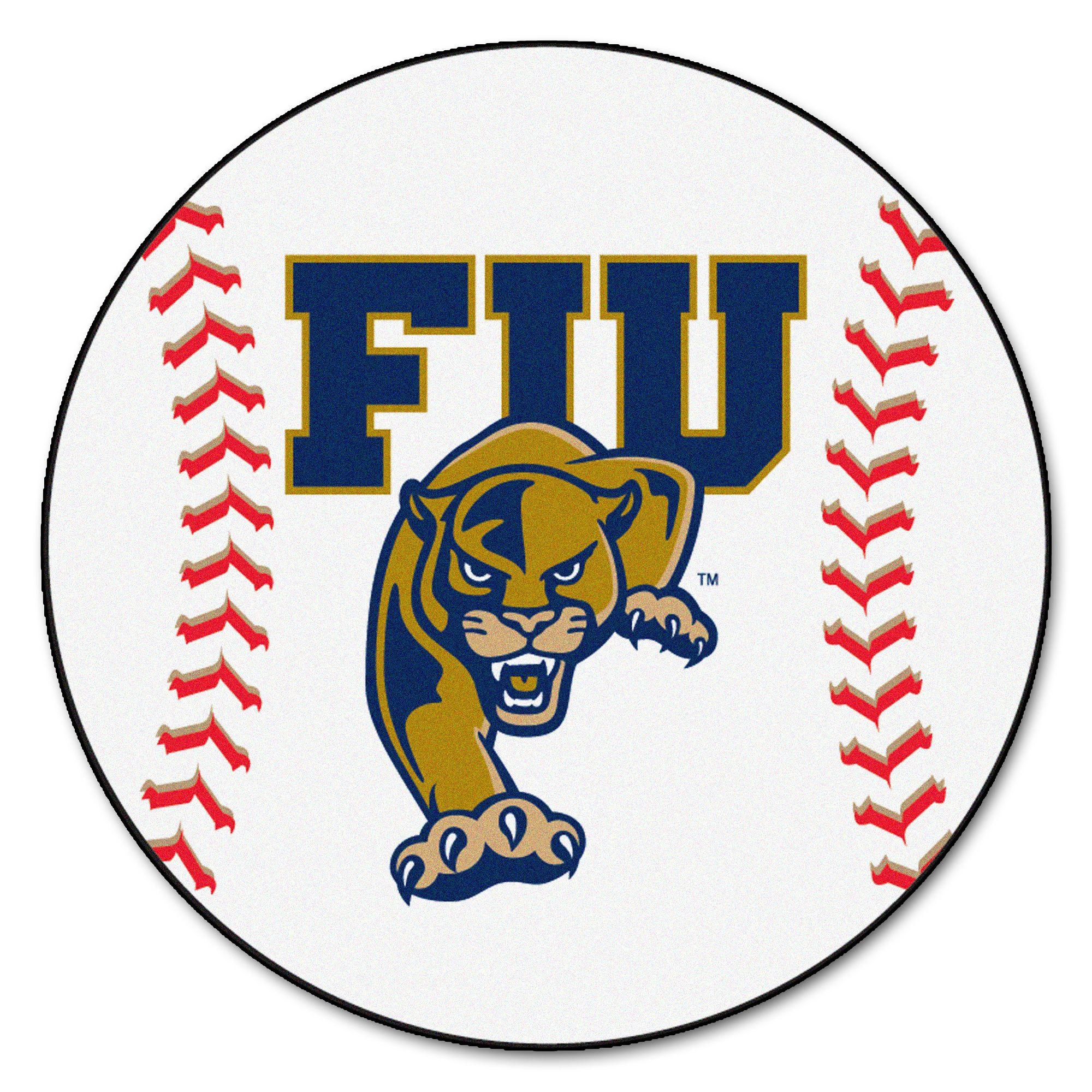 2311 Fanmats College NCAA Florida International University 27 Inch diameter Nylon Face durable Non-skid chromojet-printed washable Baseball Mat