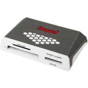 Kingston USB 3.0 High-Speed Media Reader - CompactFlash Type I, CompactFlash Type II, SD, SDHC, SDXC, microSD, microSDHC, microSDXC, Memory Stick PRO, Memory Stick Duo, Memory Stick PRO Duo, ...