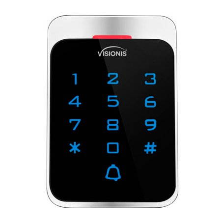 Visionis VIS-3022 Access Control Outdoor Weatherproof Metal Housing Anti Vandal Digital Touch Keypad + Reader Standalone And Wiegand 125khz EM Cards Compatible With (Hardwired Digital Keypad)