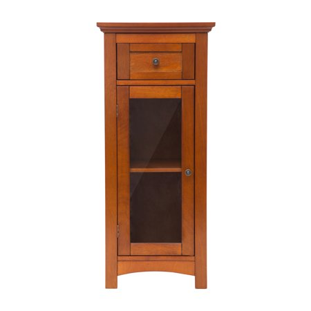 glitzhome wooden floor storage cabinet with 1 drawer and 1 door. Black Bedroom Furniture Sets. Home Design Ideas