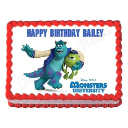 Monsters Inc University Edible Image Decoration Party Cake Topper