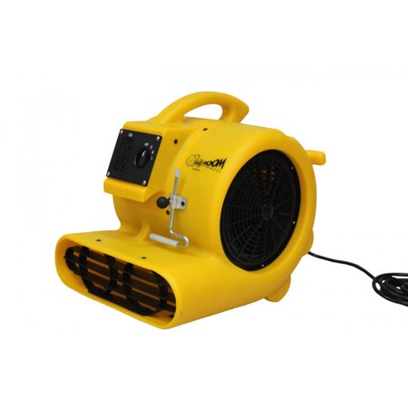 Zoom 1/3 HP Centrifugal Air Blower Floor Dryer Fan with Carpet Clamp and 25 Foot Power Cord