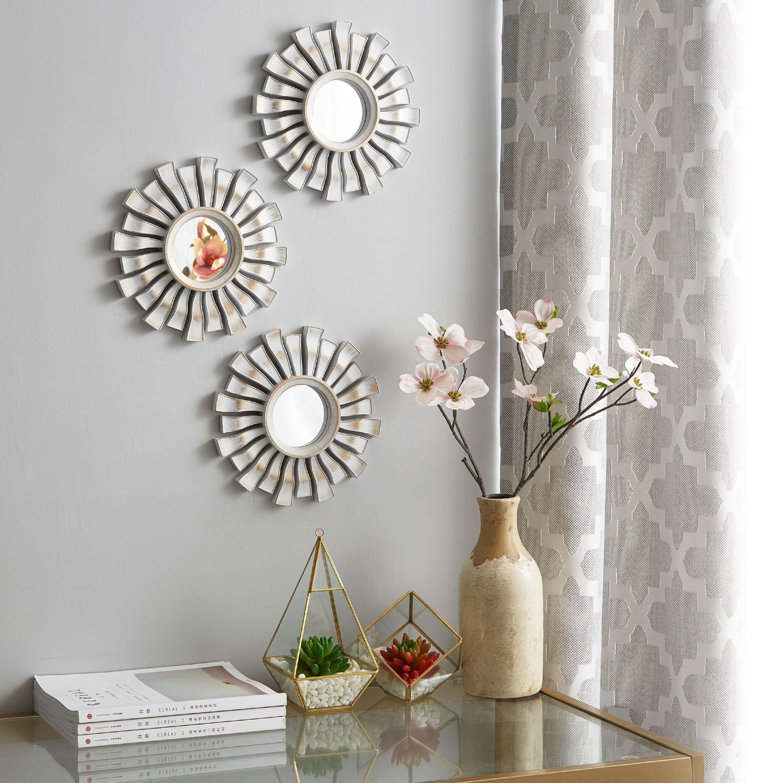 Mainstays 3 Pack Spoke Decorative Mirrors