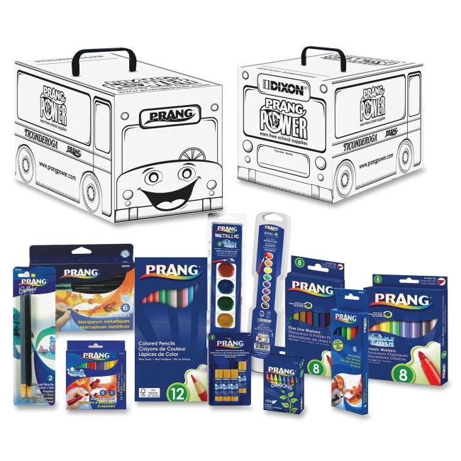 Prang Power Classroom School Supply Kit, 66 Pieces