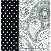 "MBI Paisley Fabric Photo Album 7.25""X7.75""  -Black & White"