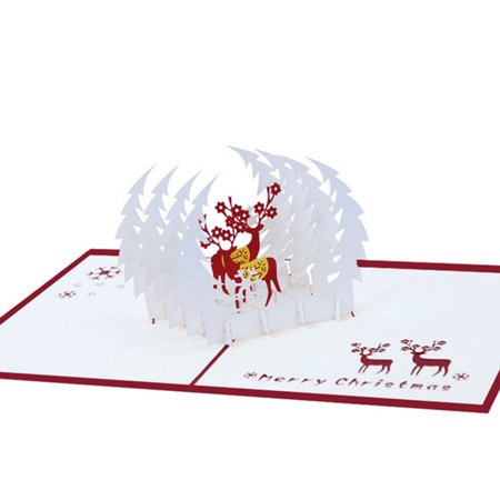 Details about 3D Pop Up Card Christmas Greeting Baby Gift Holiday Happy New ()