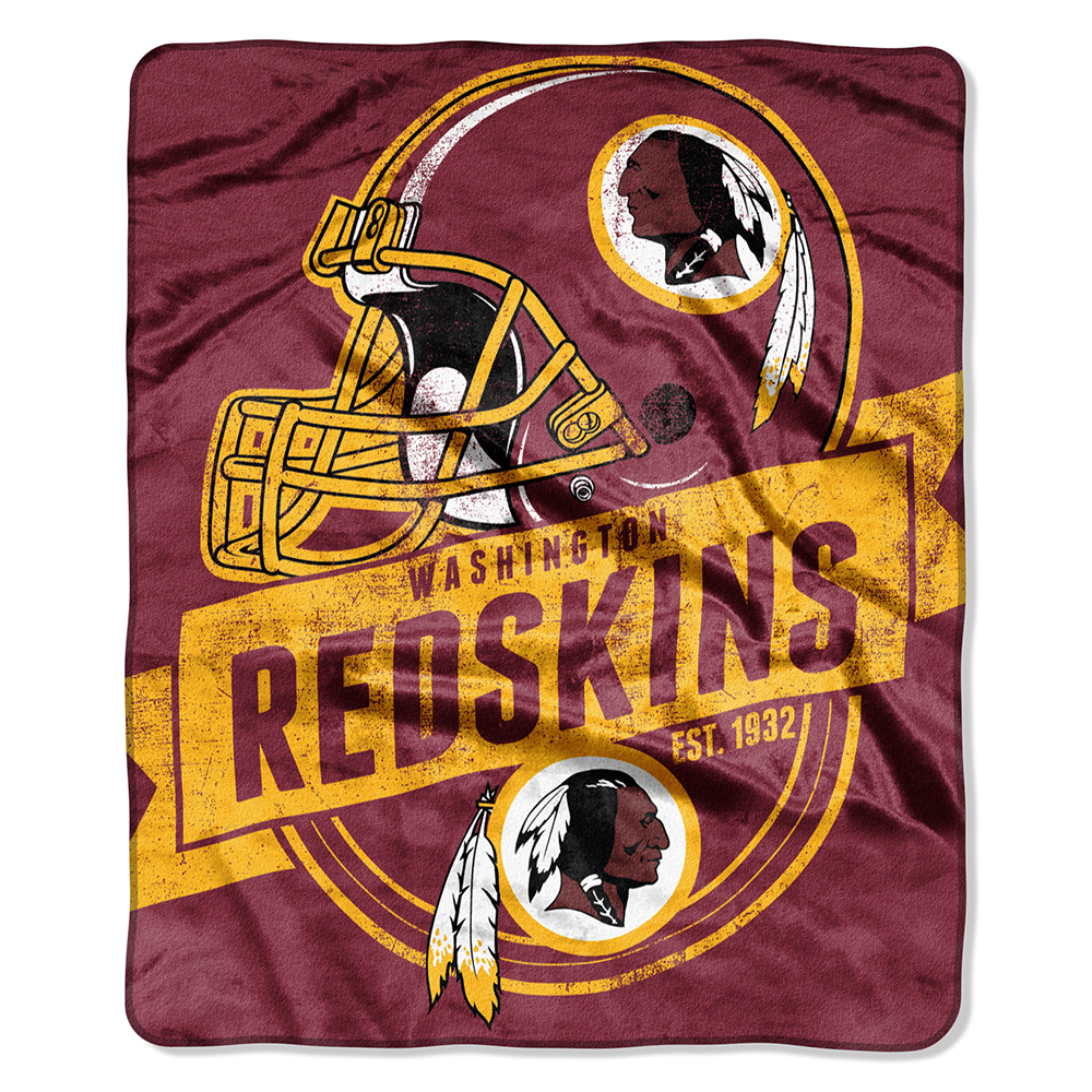 "Washington Redskins 50""x60"" Royal Plush Raschel Throw Blanke"