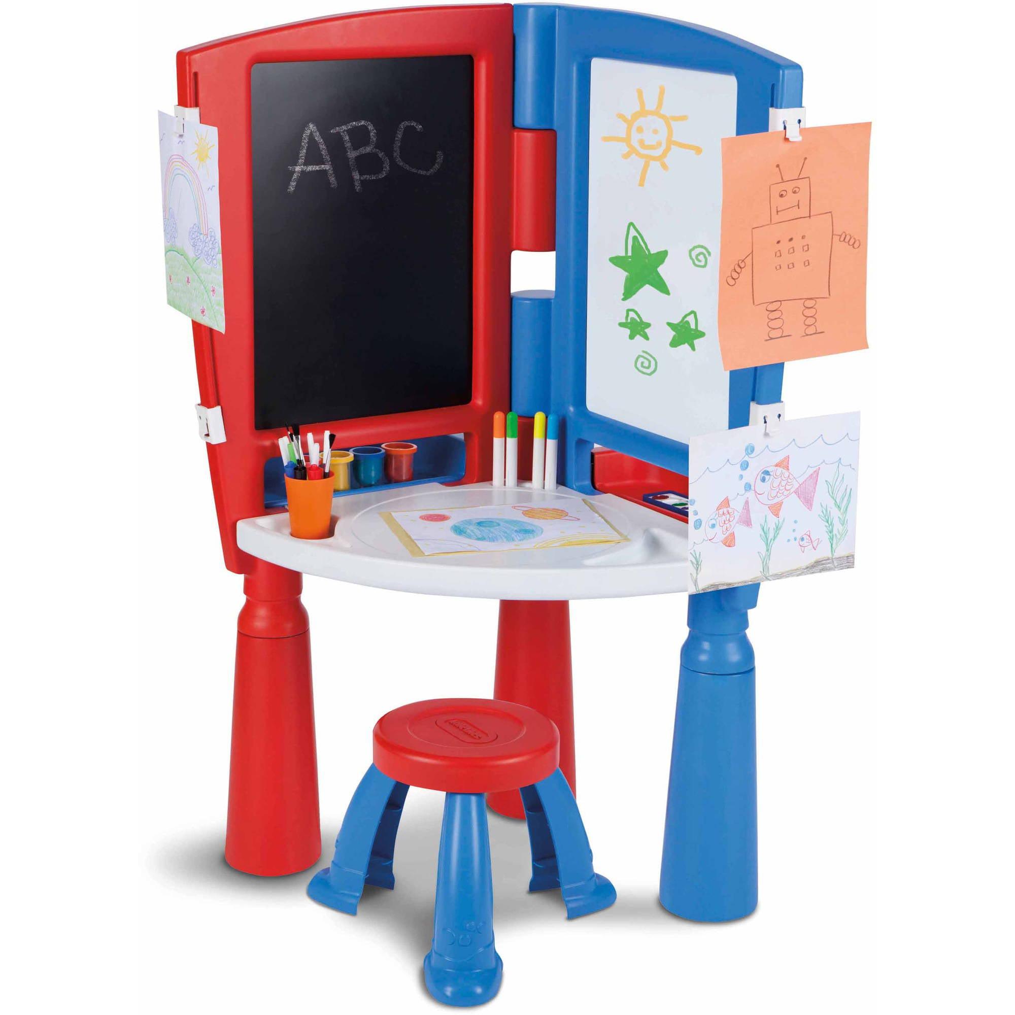 Little Tikes 2-in-1 Art Desk and Easel - Walmart.com