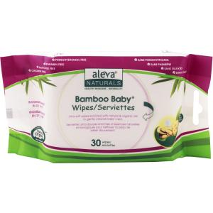 ALEVA NATURALS BAMBOO TRAVEL WIPES 30CT 6PK OF 30CT