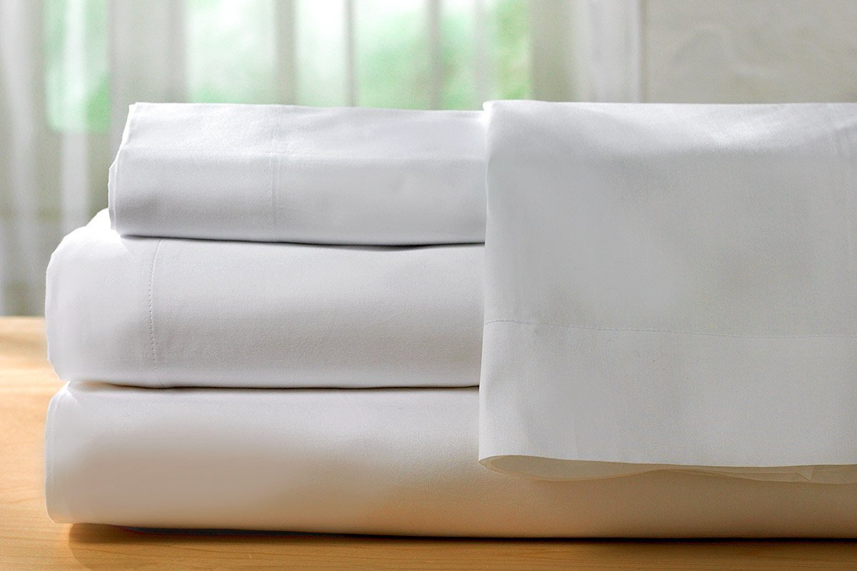 Elegant Hotel Sheets Direct 100% Percent Cotton Egyptian Cotton Bed Sheets (Queen,  White)